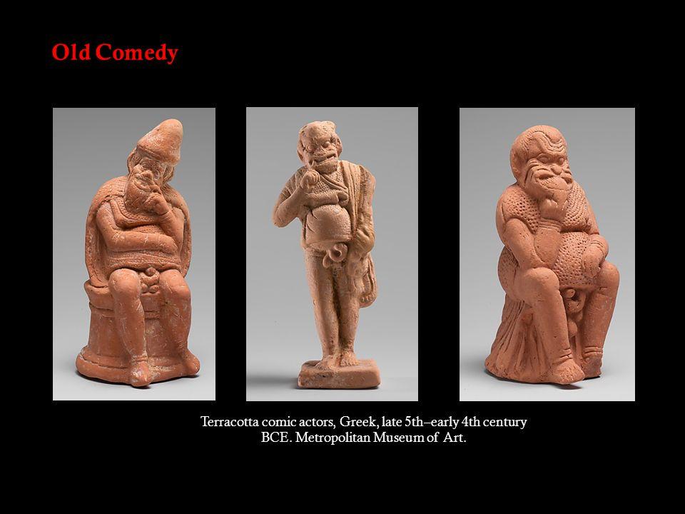 Attic (Athenian) comedy NEW COMEDY (c.323–c.263 BC) No topical satire.
