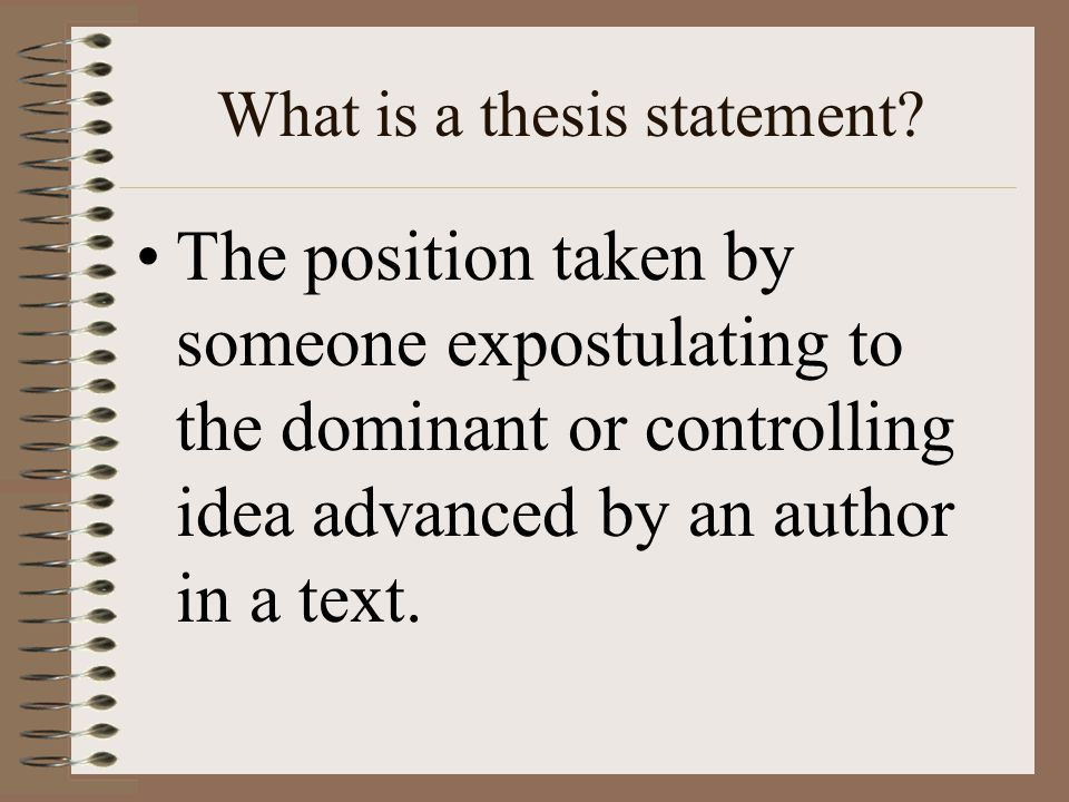 An Essay With A Thesis Statement