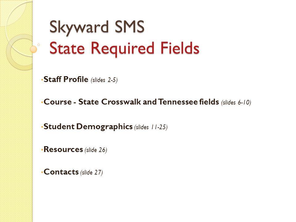 Staff Profile Staff State Required Fields 2