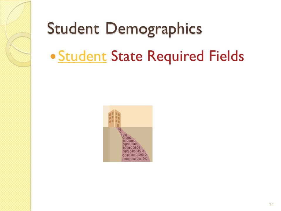 Student Demographics Student State Required Fields 11