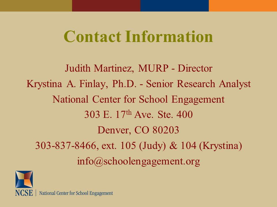 Contact Information Judith Martinez, MURP - Director Krystina A.