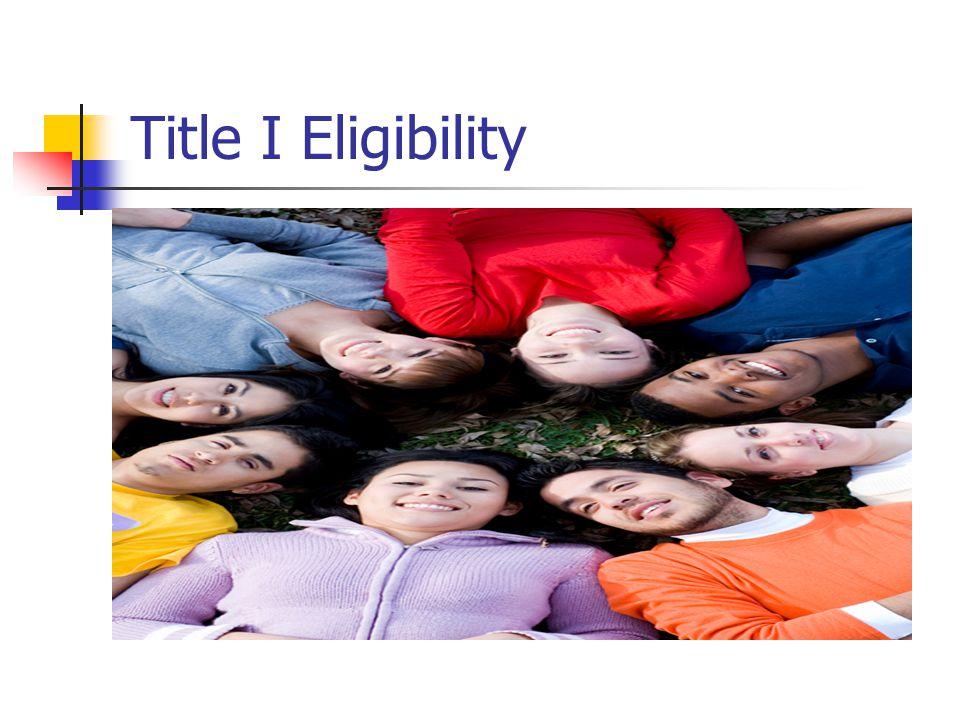 Title I Eligibility