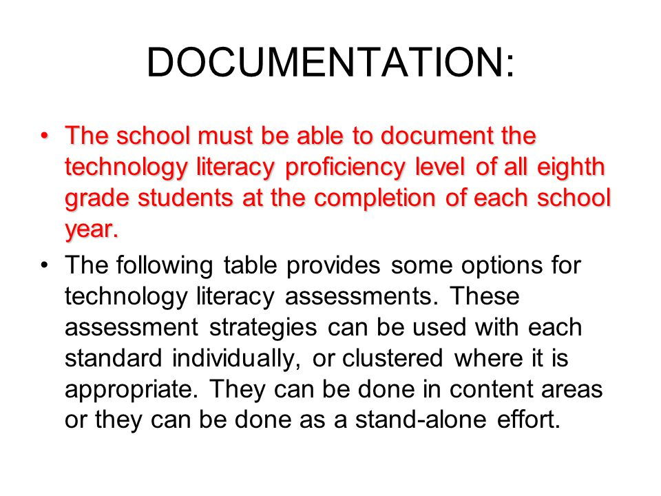 Table of Assessment Options -source: http://www.aea1.k12.ia.us/technology/techliteracy.html