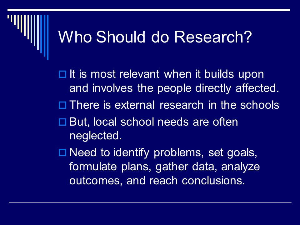 Who Should do Research.
