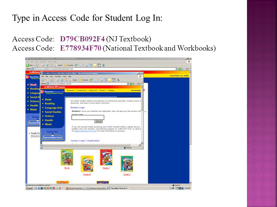 Select Student Works Plus (above the books)