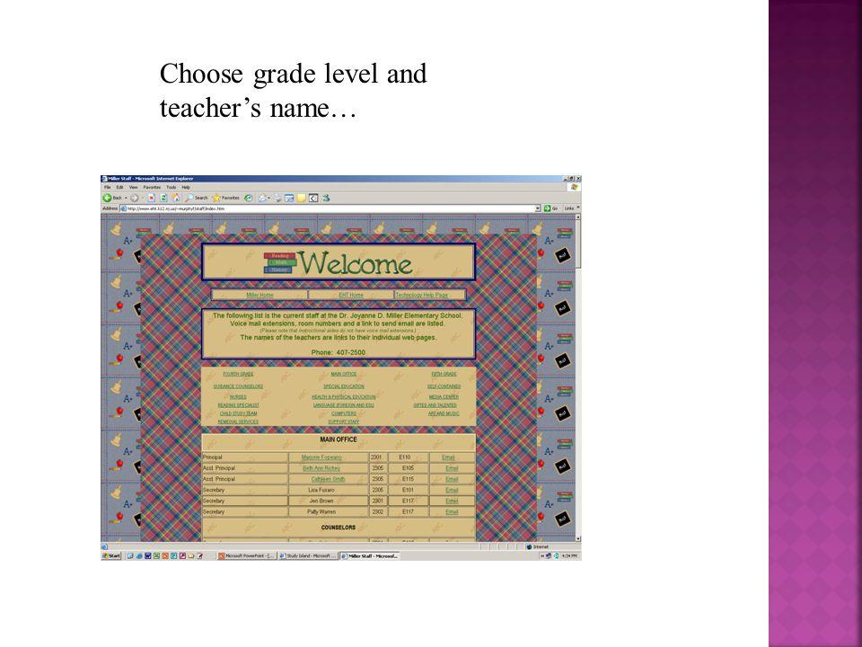 Click on Miller School then Academics