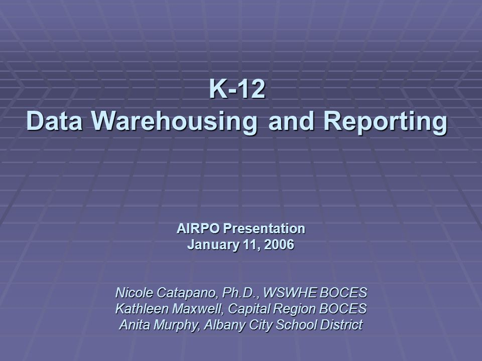 How can a K-12 data warehouse benefit higher education.