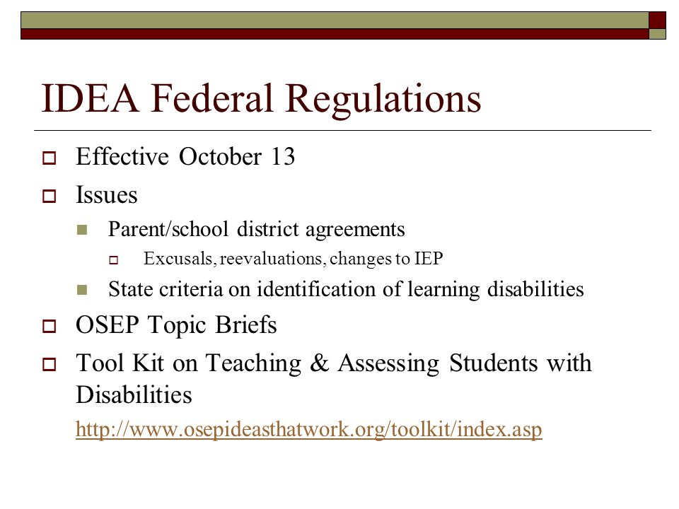 Accountability for Results NCLB and IDEA improving educational results and functional outcomes for all children with disabilities…