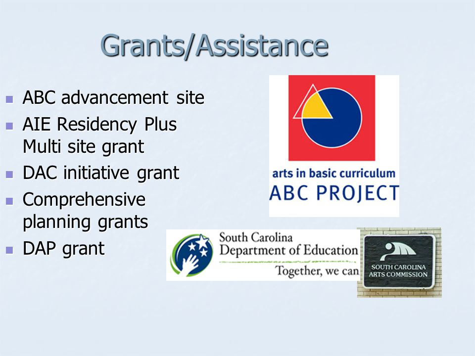 Grants/Assistance ABC advancement site ABC advancement site AIE Residency Plus Multi site grant AIE Residency Plus Multi site grant DAC initiative gra