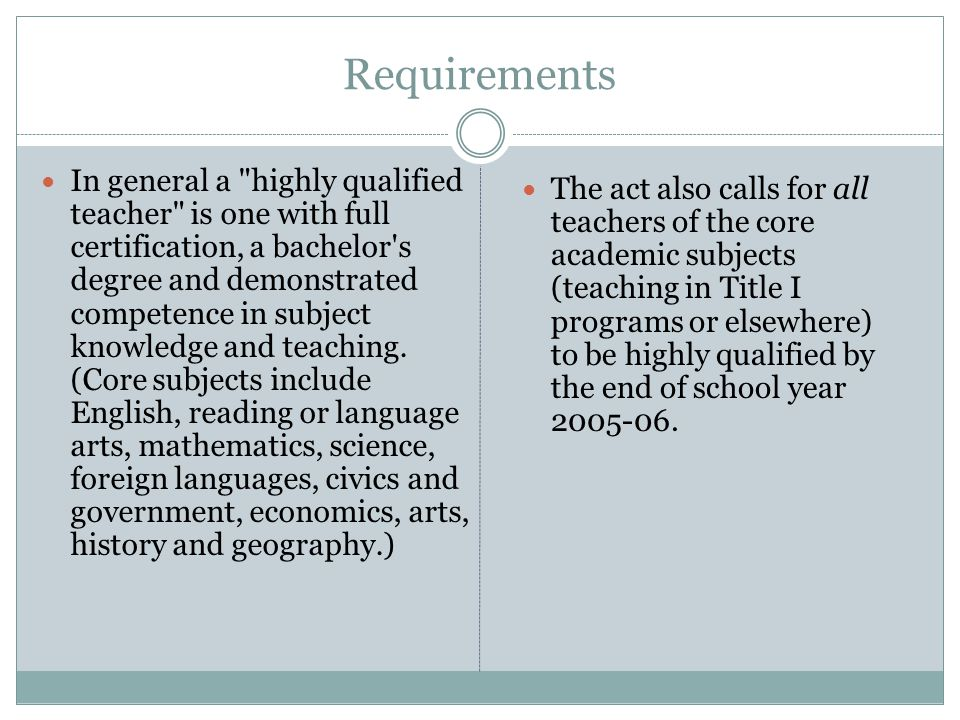 Highly Qualified Teacher Plan (PI-9550-IIC) Due November 15.