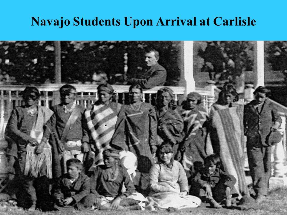 8 Navajo Students After Being Civilized at Carlisle