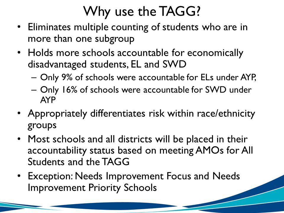 Why use the TAGG.