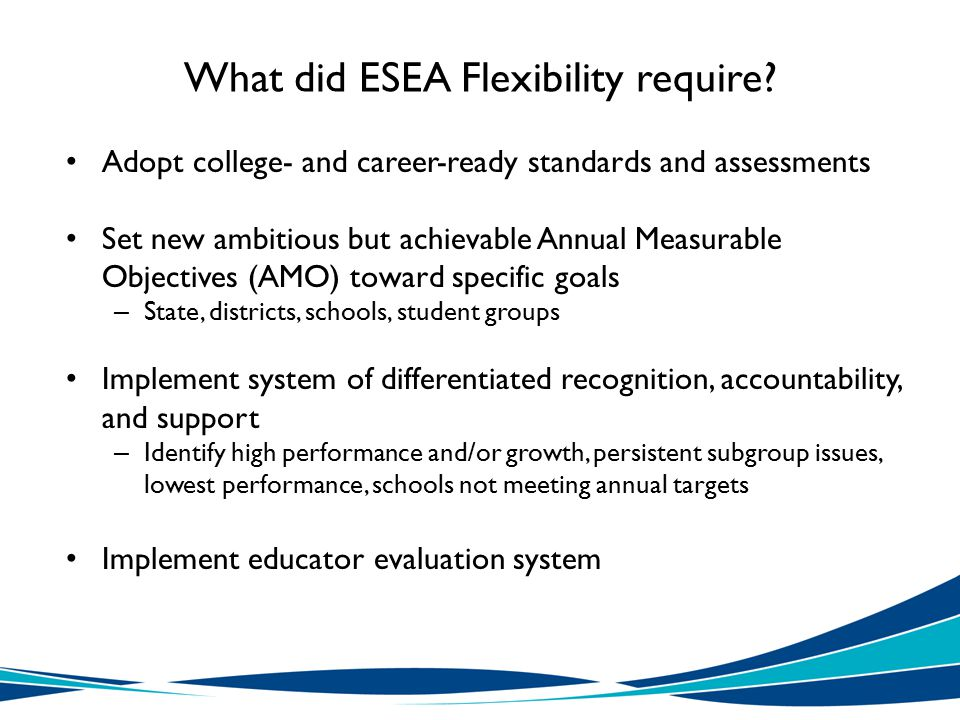 What did ESEA Flexibility require.