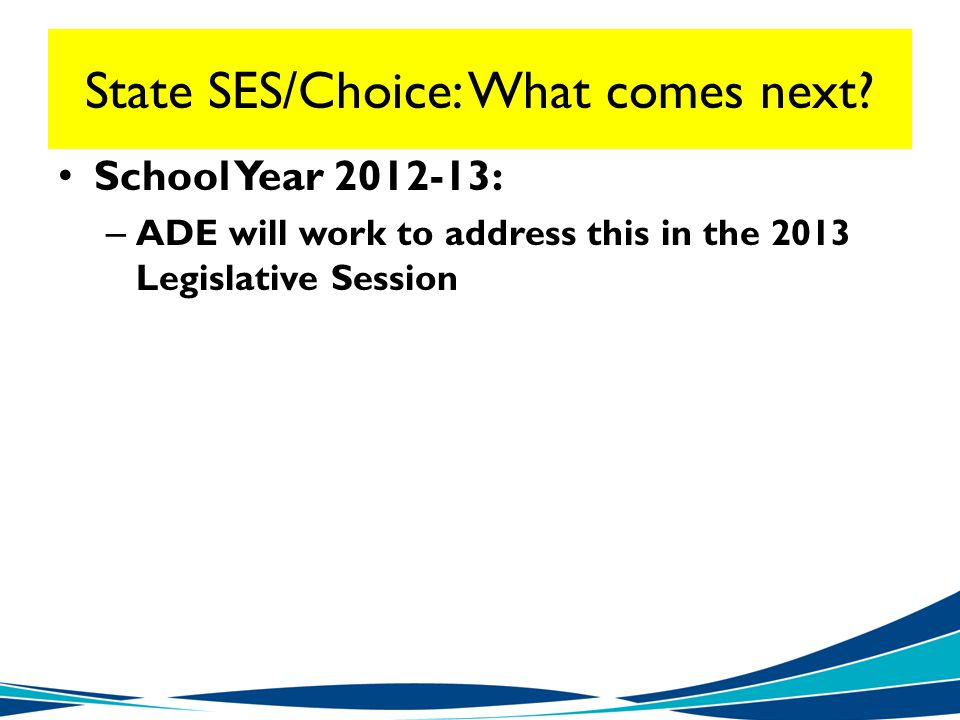 State SES/Choice: What comes next.