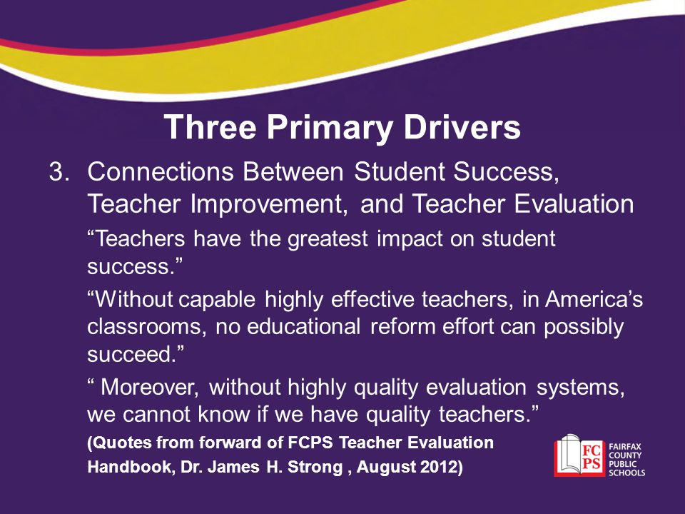 Standard 7: Student Academic Progress The work of the teacher results in acceptable, measurable, and appropriate student academic progress.