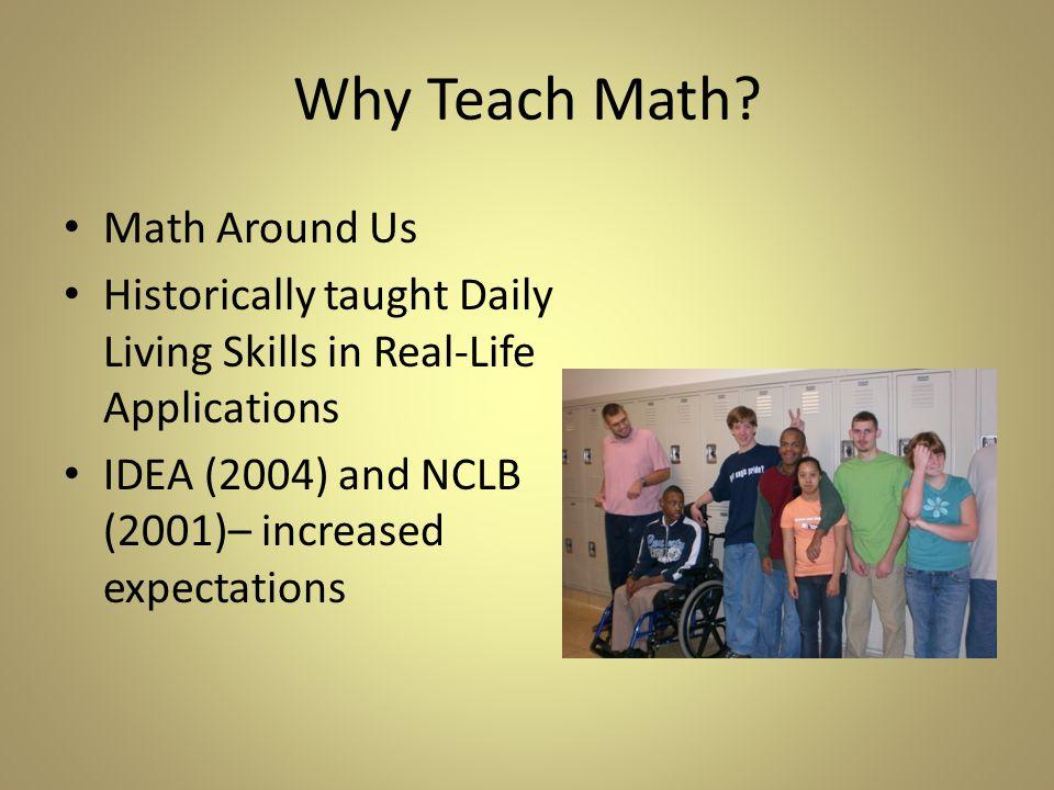 Why Teach Math.