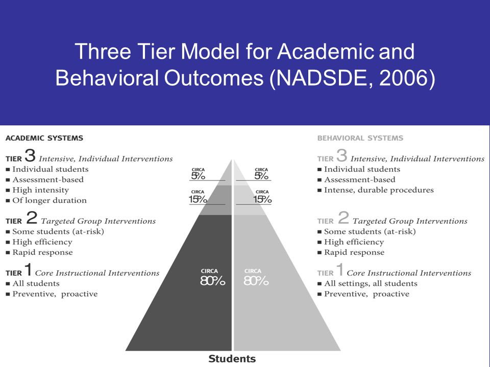 Standard Protocol Data from screening and progress monitoring used to route student into interventions of increasing intensity Instructional strategies tied to different indicators of student need based on data Differentiation occurs in grouping and selection of strategies (usually severity of difficulties)