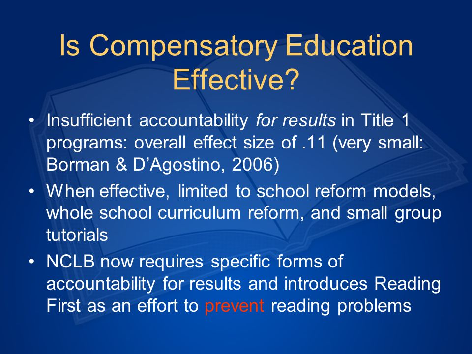 Special Education Special education MUST BE part of the continuum of services.