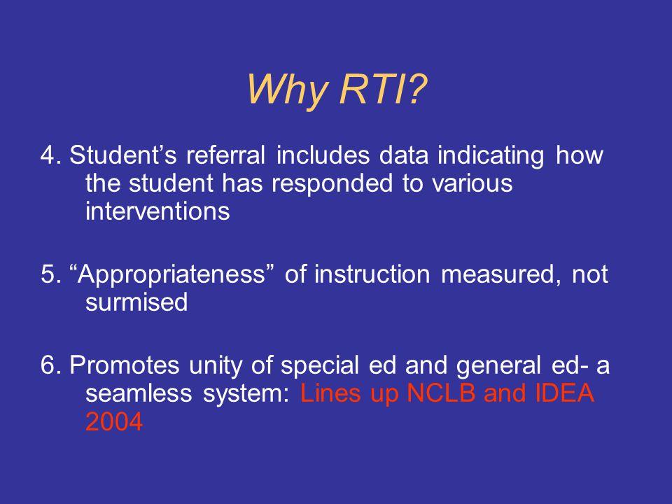 Why RTI. 1.