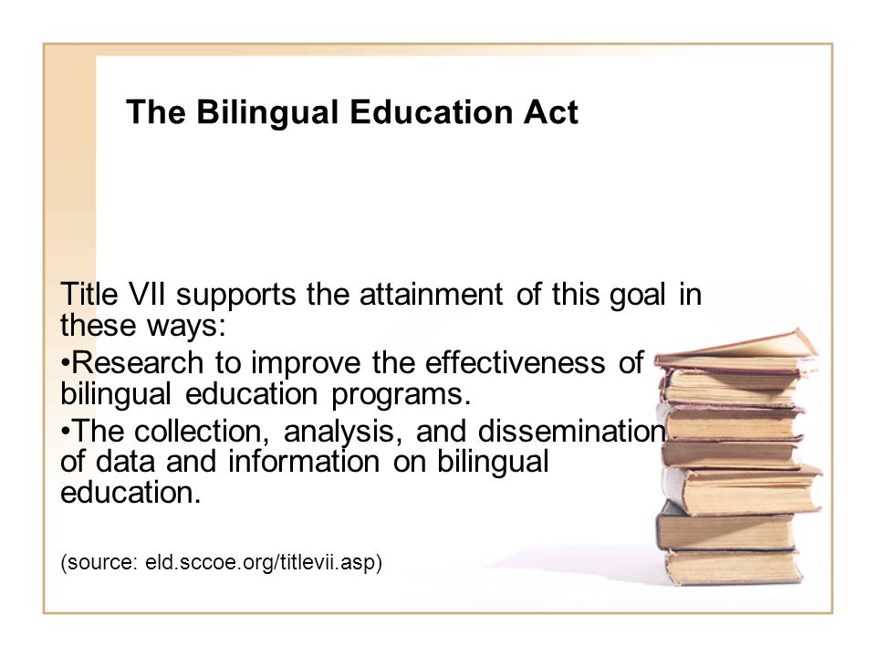 NCLB Act (Title III) Other important considerations of Title III: (Funding Allocations) Federal resources will be distributed via formula grants by each state based on their enrollments of English language learners (ELL) and immigrant students; states with higher number of ELL's and immigrant students will receive more support;