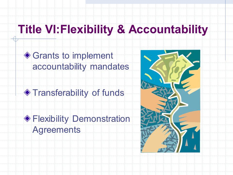 Title V: Promoting Informed Parental Choice & Innovative Programs Grants for Innovative Programs Public Charter Schools Magnet Schools