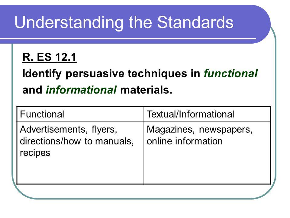 Understanding the Standards R.