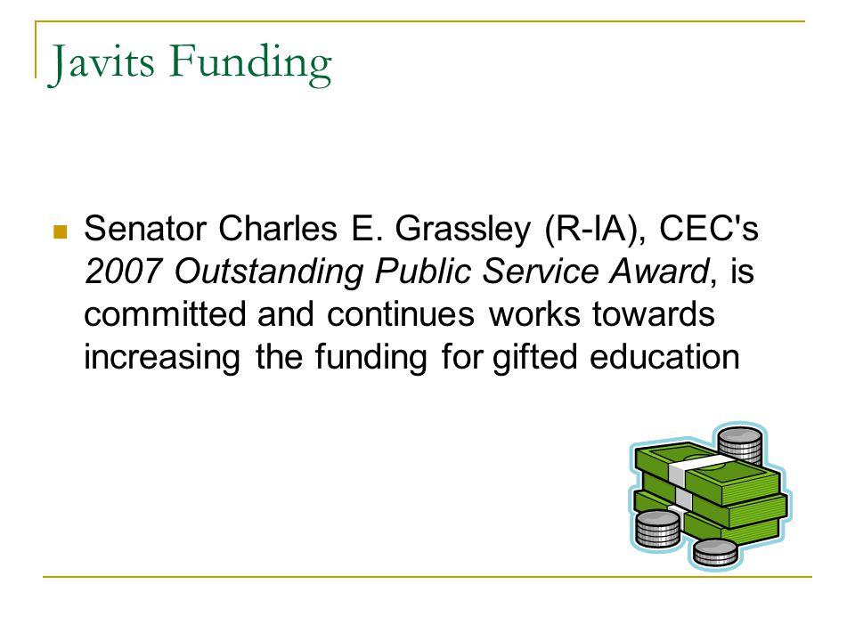 Javits Funding Senator Charles E.