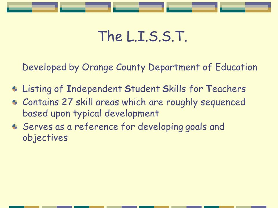 The L.I.S.S.T.