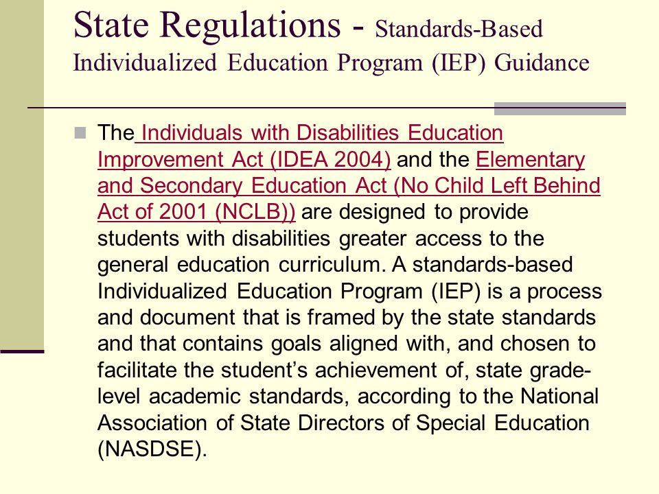 Goals Developed from the statement of present levels Academic goals must be TEKS based Helps to form and guide instructional decisions Determine appropriate special education and related services Guide discussion about curriculum accommodations or modifications If it is a deficit, there should be a goal