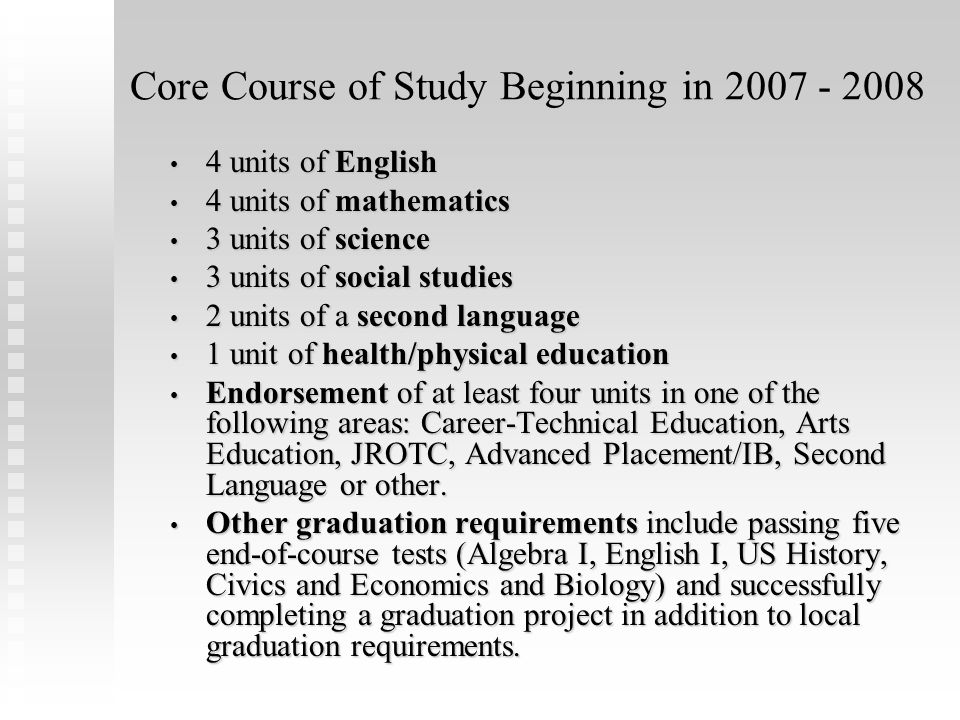 Pathways to a North Carolina High Diploma Career Course of Study College Tech Prep Course of Study College/University Prep Course of Study Occupational Course of Study