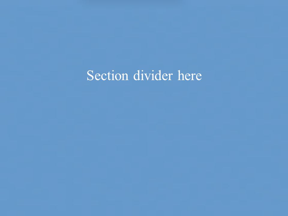Section divider here