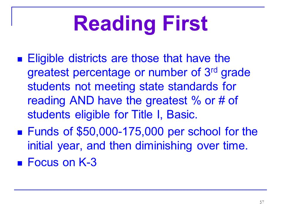 56 Looking Deeper: Reading First Special Education SIP and Data Analysis Secondary Education