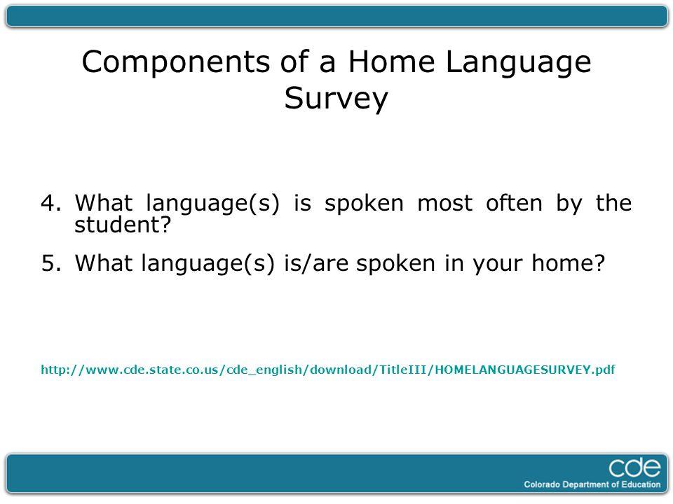 Language Dominance v.