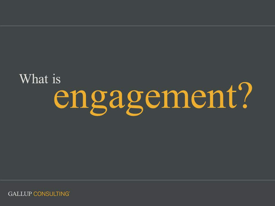 engagement What is