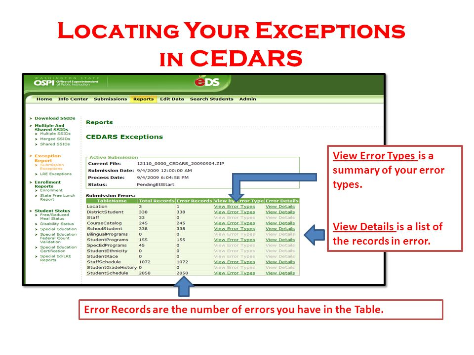 CEDARS Student Programs File (i) Element I08 – Program Exit Date CEDARS Field Name: Exit Date Web Access Path: WS/ST/PR/WA-NCLB/Student Programs button/Edit/Program End Date WESPaC Path: SM/ST/WA-NCLB tab/Student Programs button/Edit/Program End Date Element I07 – Program Start Date CEDARS Field Name: Start Date Web Access Path: WS/ST/PR/WA-NCLB/Student Programs button/Edit/Program Start Date WESPaC Path: SM/ST/WA-NCLB tab/Student Programs button/Edit/Program Start Date