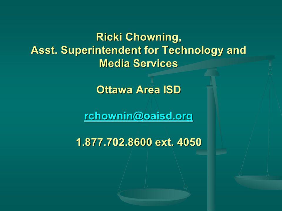 Ricki Chowning, Asst.