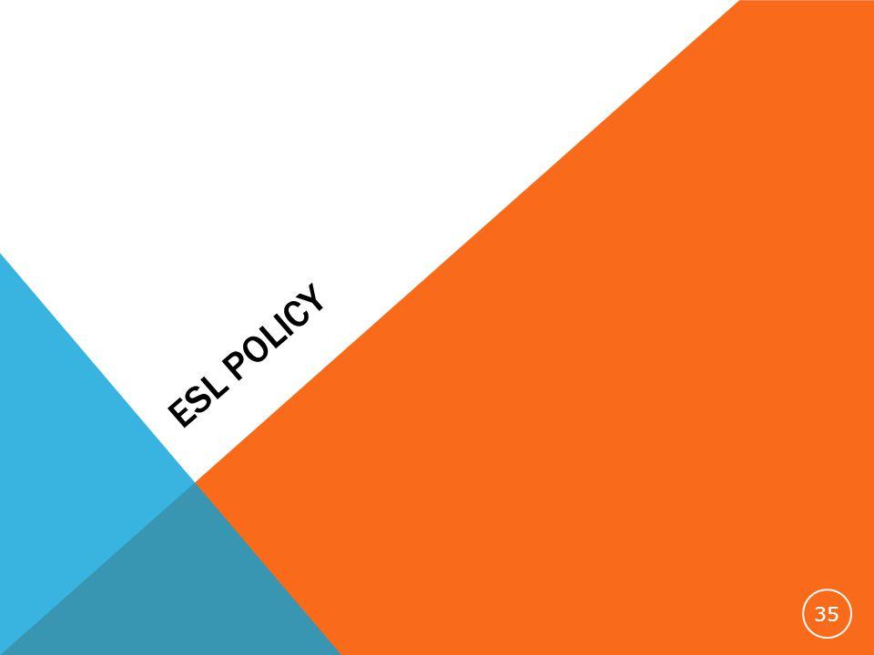 ESL POLICY 35