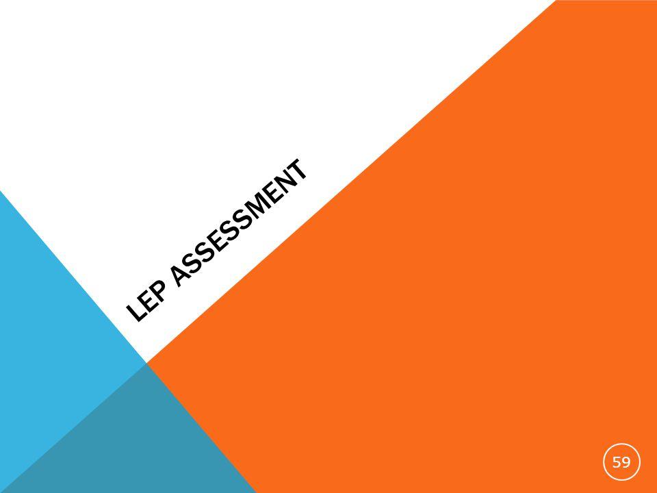 LEP ASSESSMENT 59