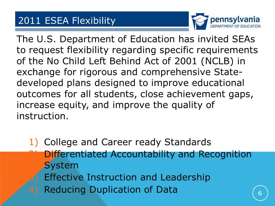 2011 ESEA Flexibility The U.S.