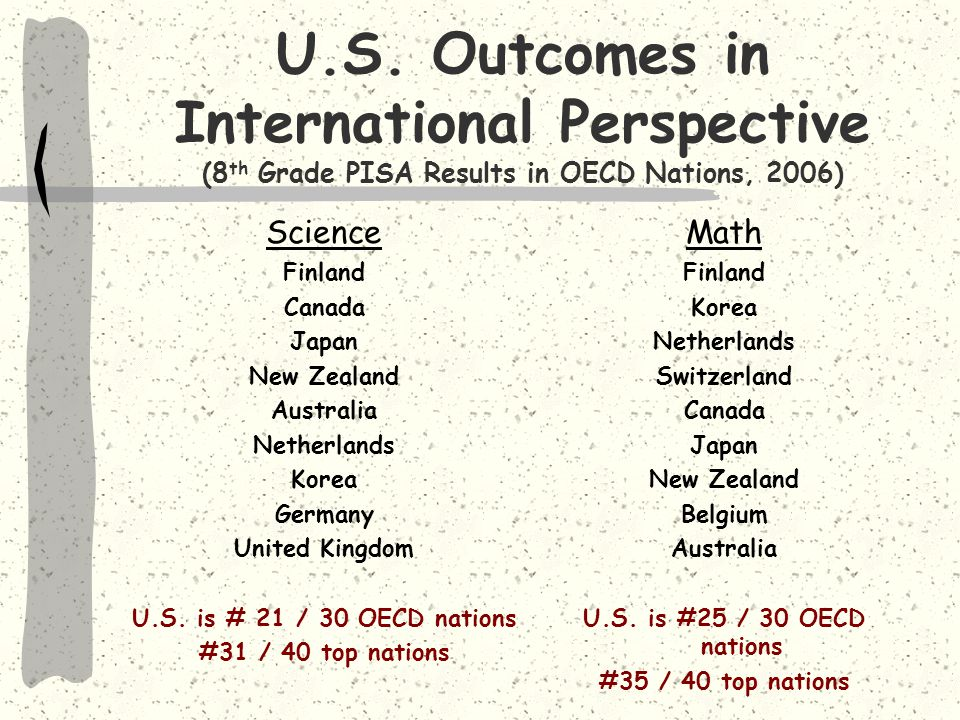 Although expert teachers are the greatest influence on learning, the U.S.