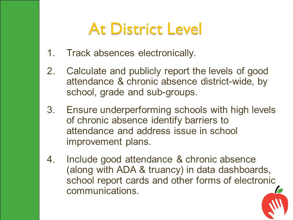1.Track absences electronically.