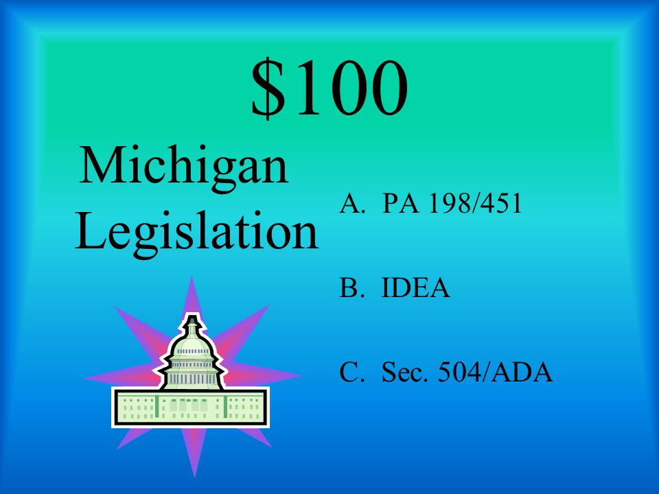 $100 Requires IEPC to consider assistive technology for a student eligible for special education services.