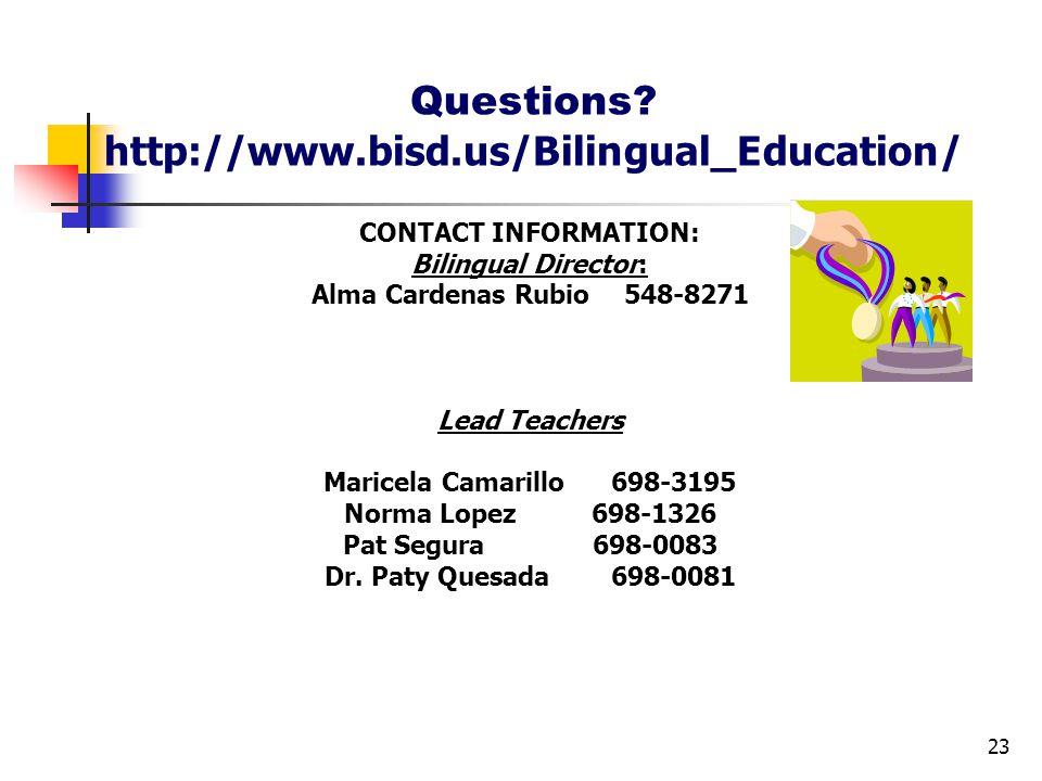 CONTACT INFORMATION: Bilingual Director: Alma Cardenas Rubio548-8271 Lead Teachers Maricela Camarillo 698-3195 Norma Lopez 698-1326 Pat Segura 698-0083 Dr.