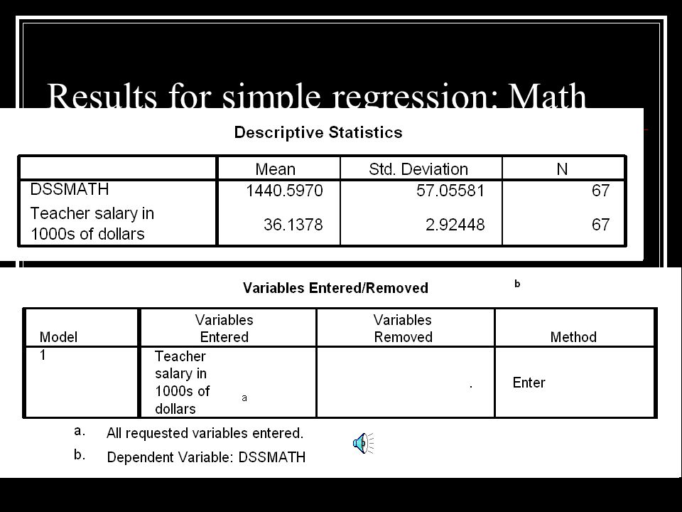 Regression and Pearson correlations essentially the same test We can get the same result in simple regression that we got with the Pearson Product Moment correlation (assuming we use the same set of data).