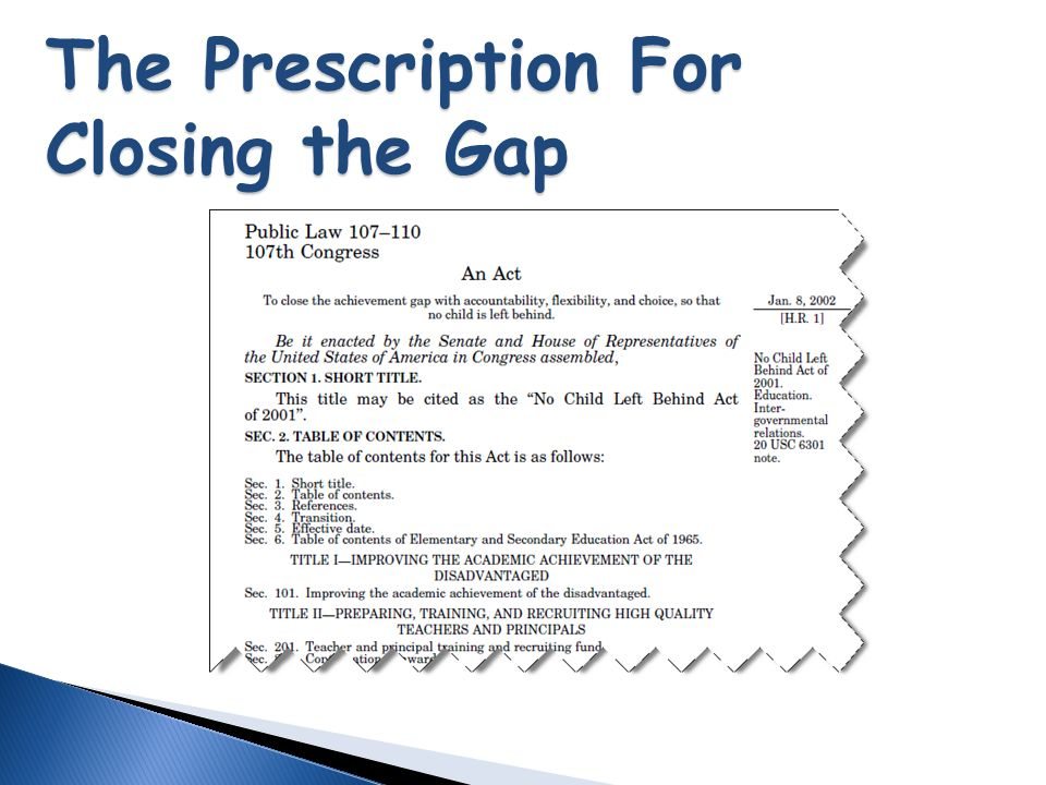 The Prescription For Closing the Gap