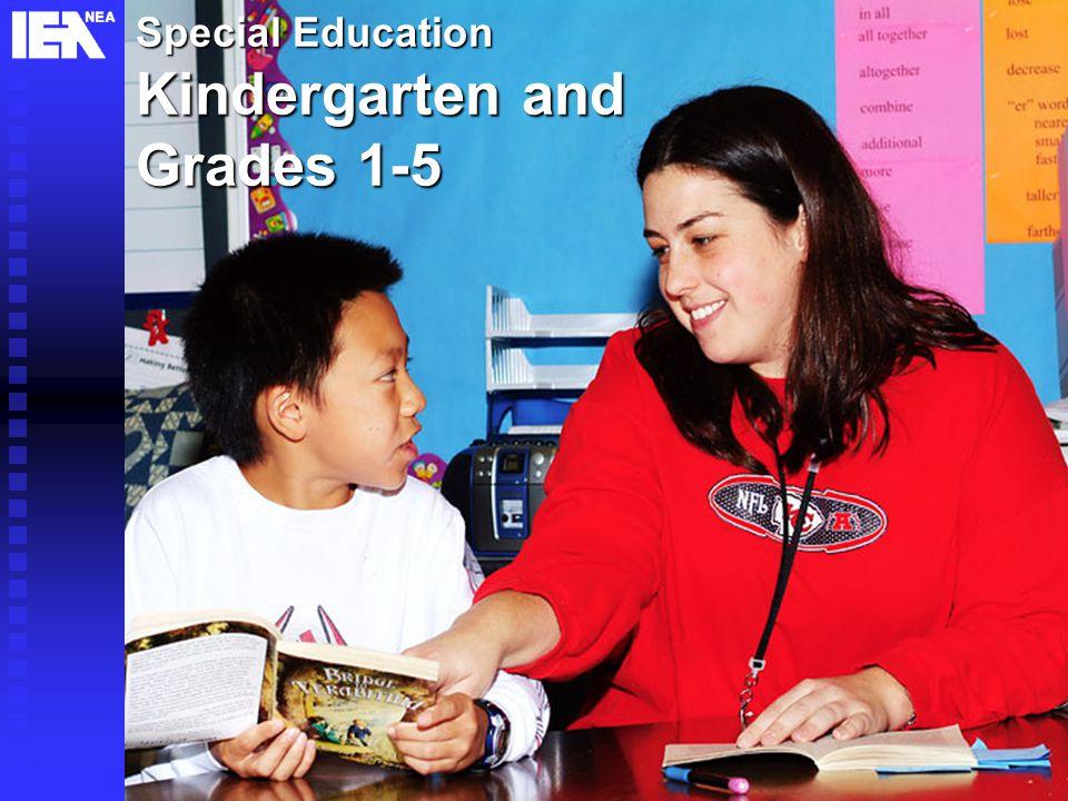 17 Special Education Kindergarten and Grades 1-5