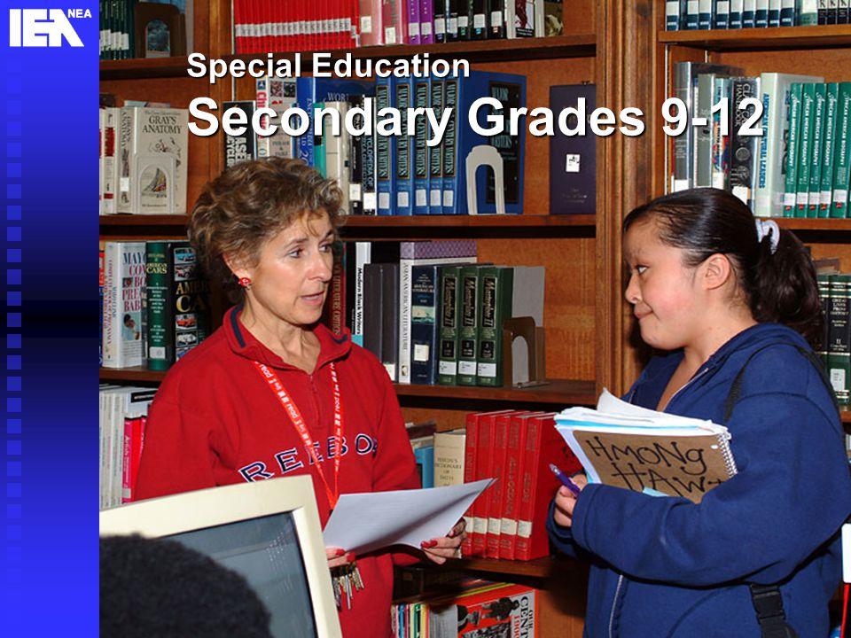 24 Special Education Secondary Grades 9-12