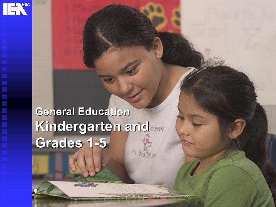 5 General Education Kindergarten and Grades 1-5