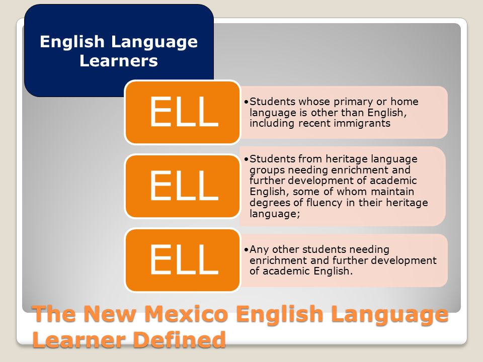 Who are our ELLs.