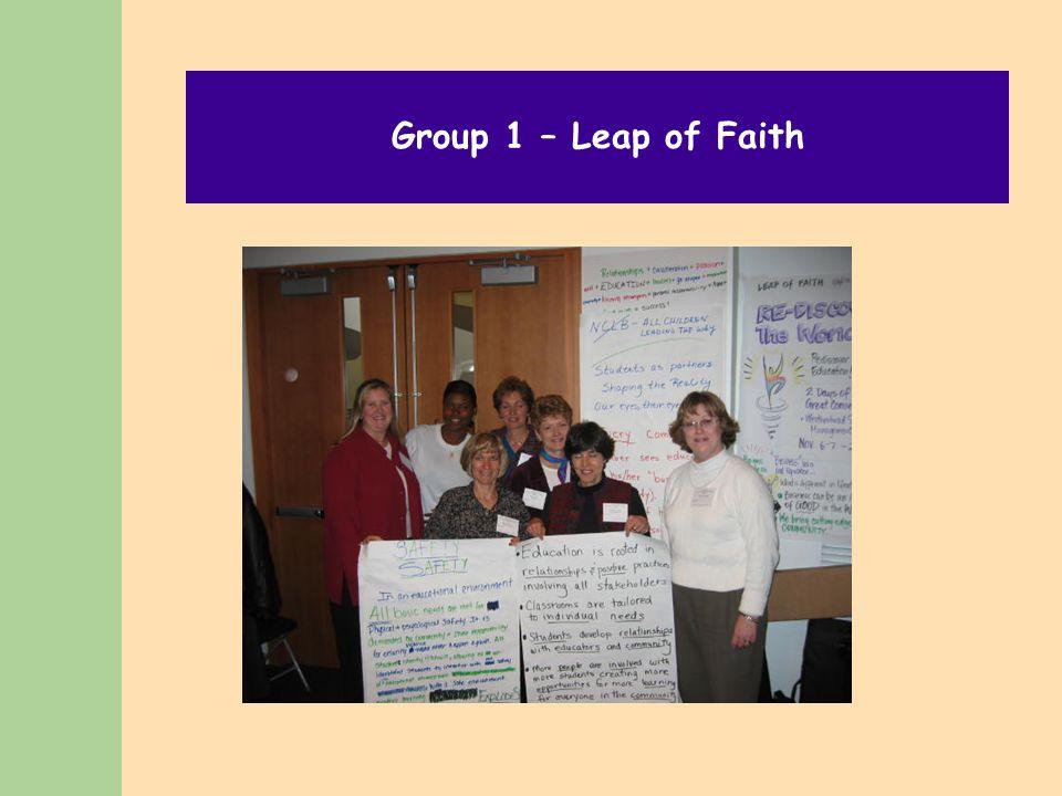 Group 1 – Leap of Faith